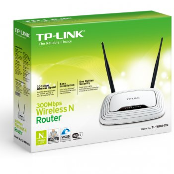 TP-Link Маршрутизатор TP-LINK TL-WR841N 4x10, 100Base-TX + 802.11n (до 300Mbit, s) + 1xWAN