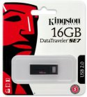 Kingston Kingston 16GB USB 2.0 DataTraveler SE7, Black