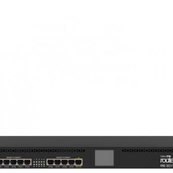 MikroTik RB3011UiAS-RM Роутер 1x SFP, 10x Gigabit Ethernet, USB 3.0, раздача PoE
